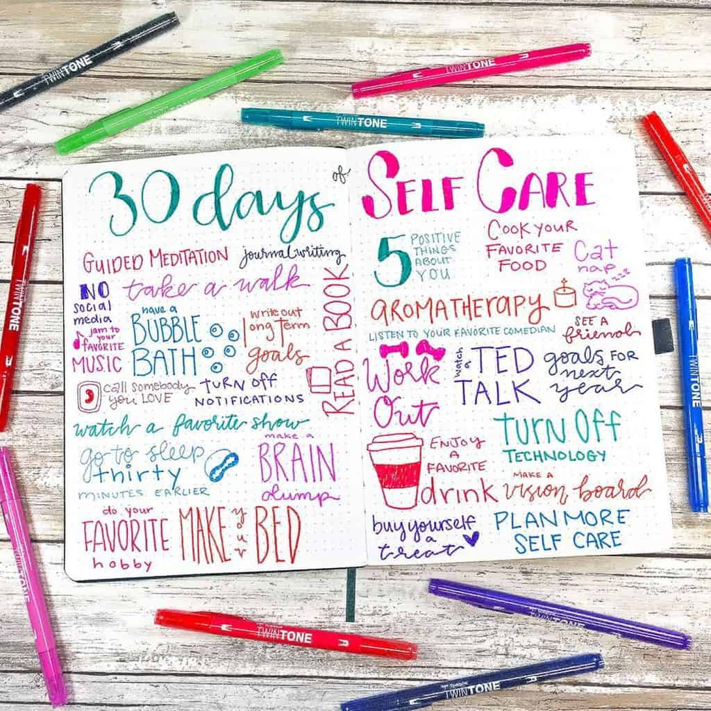 Bullet Journal Spread by @planningmindfully | Masha Plans