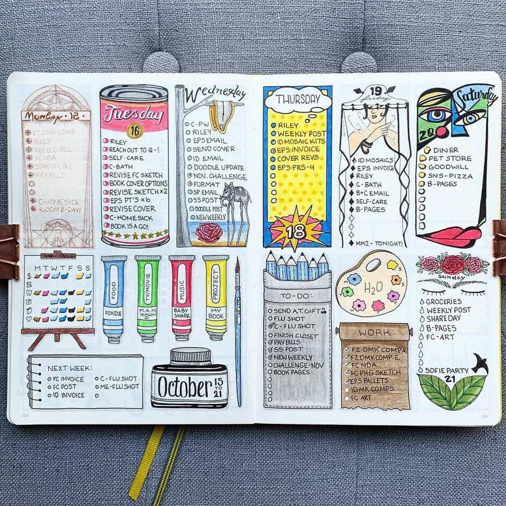 Bullet Journal Weekly Spread by @plansthatblossom   Masha Plans