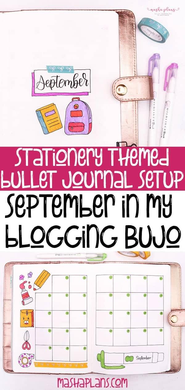 September Bullet Journal Setup In My Blogging Journal   Masha Plans