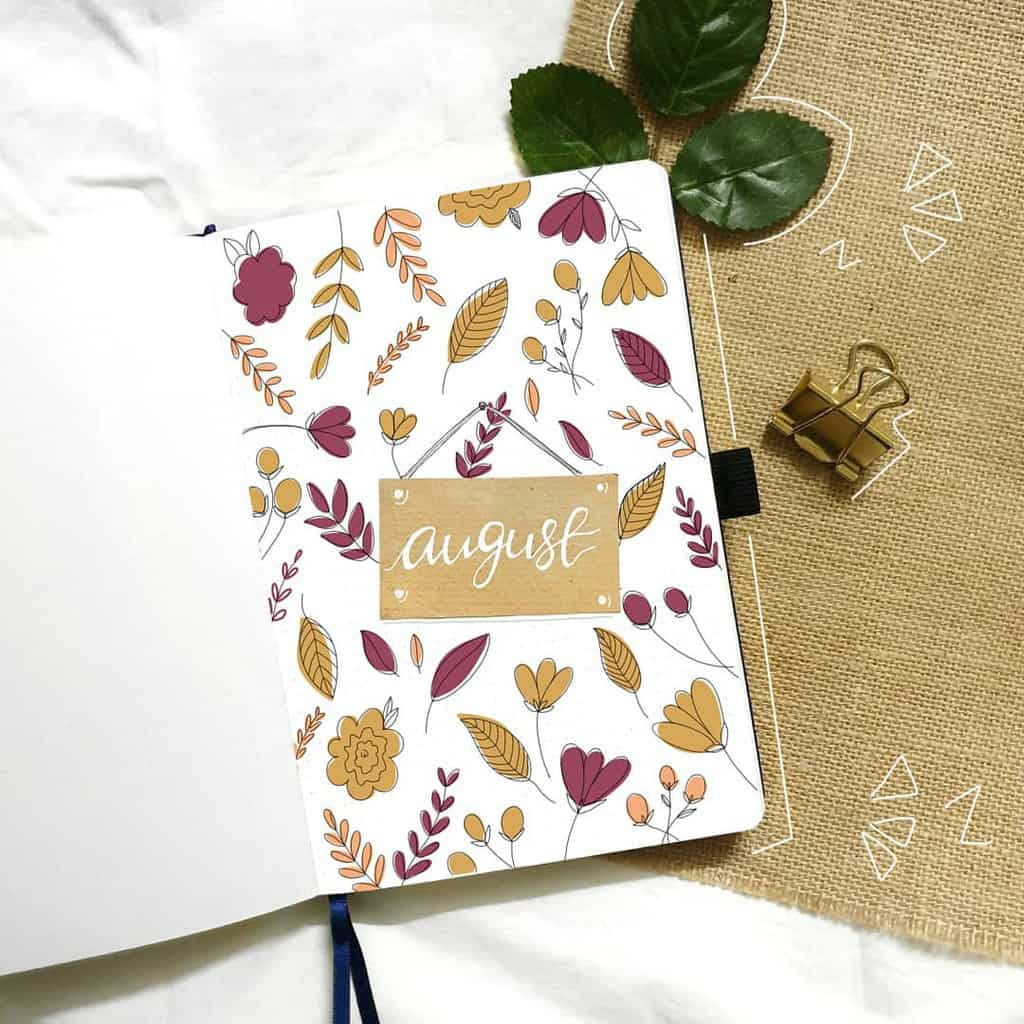 Fall Bullet Journal Theme Inspirations - cover page by @whimsical.doodles | Masha Plans