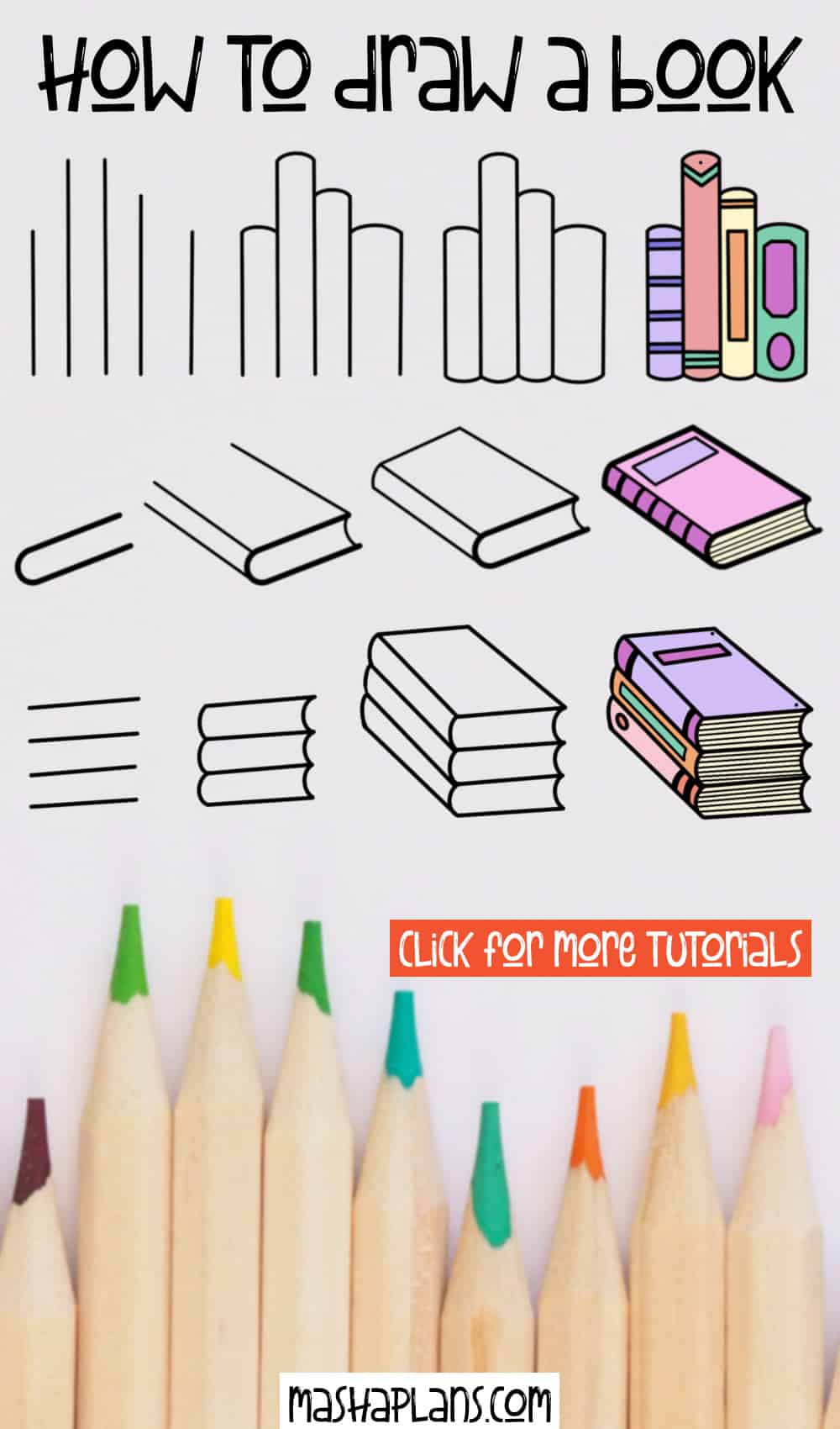 How To Draw A Book: 7 Easy Step By Step Tutorials | Masha Plans