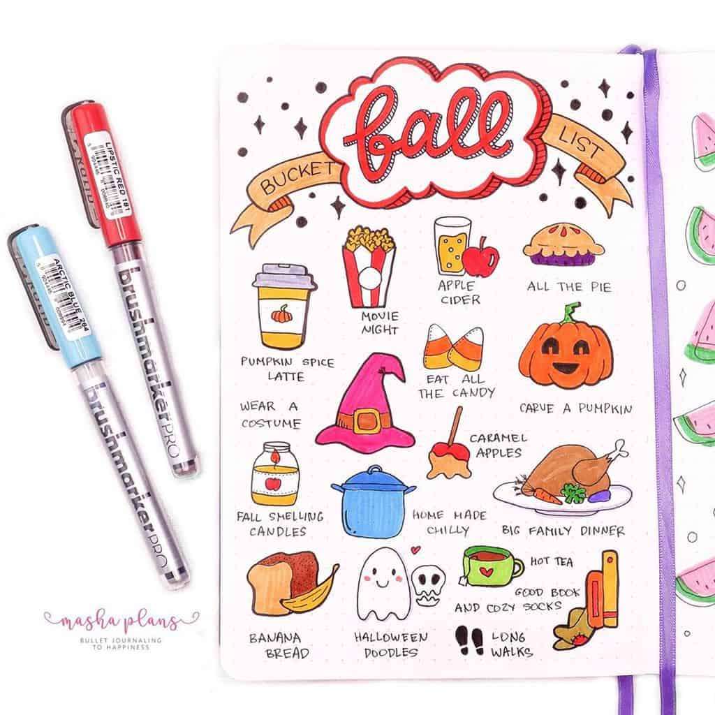 31 Fall Bucket List ideas and Bullet Journal Inspirations | Masha Plans