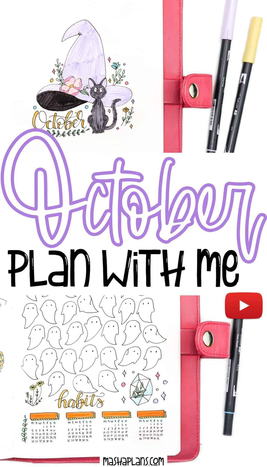 Plan With Me: October 2020 Bullet Journal Setup | Masha Plans