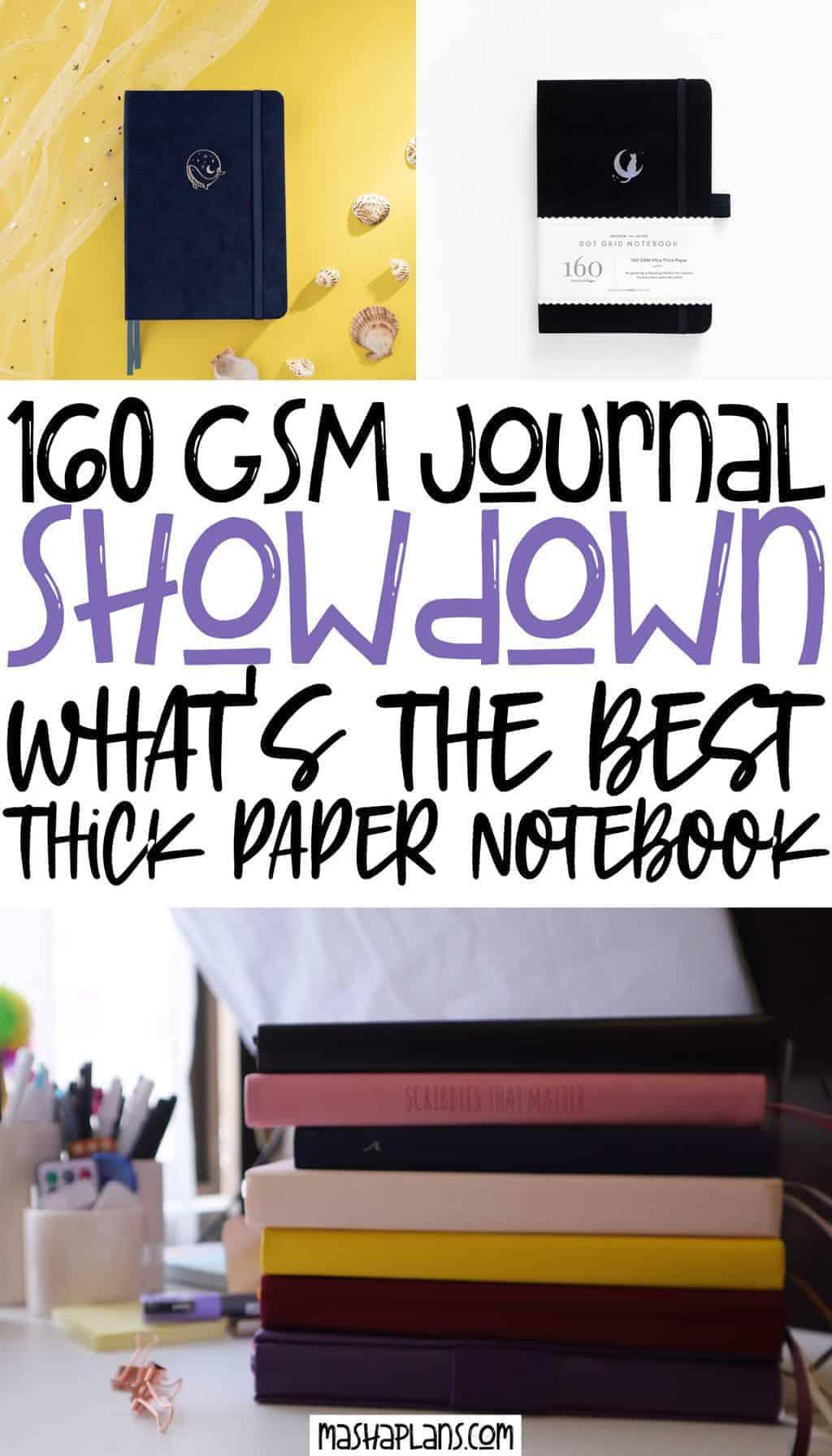 Best 160 GSM Bullet Journal Notebooks: The Ultimate Comparison | Masha Plans