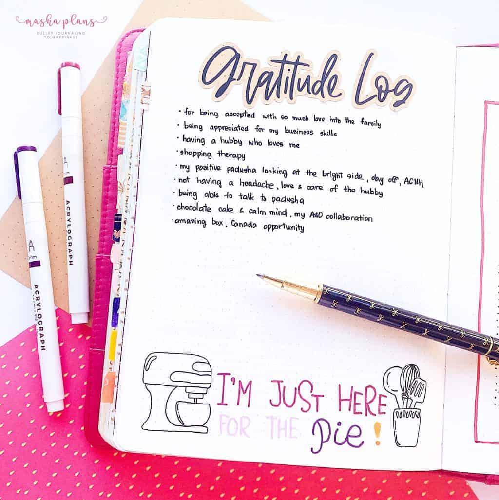 Cozy Fall Bullet Journal Setup: November Plan With Me, gratitude log | Masha Plans