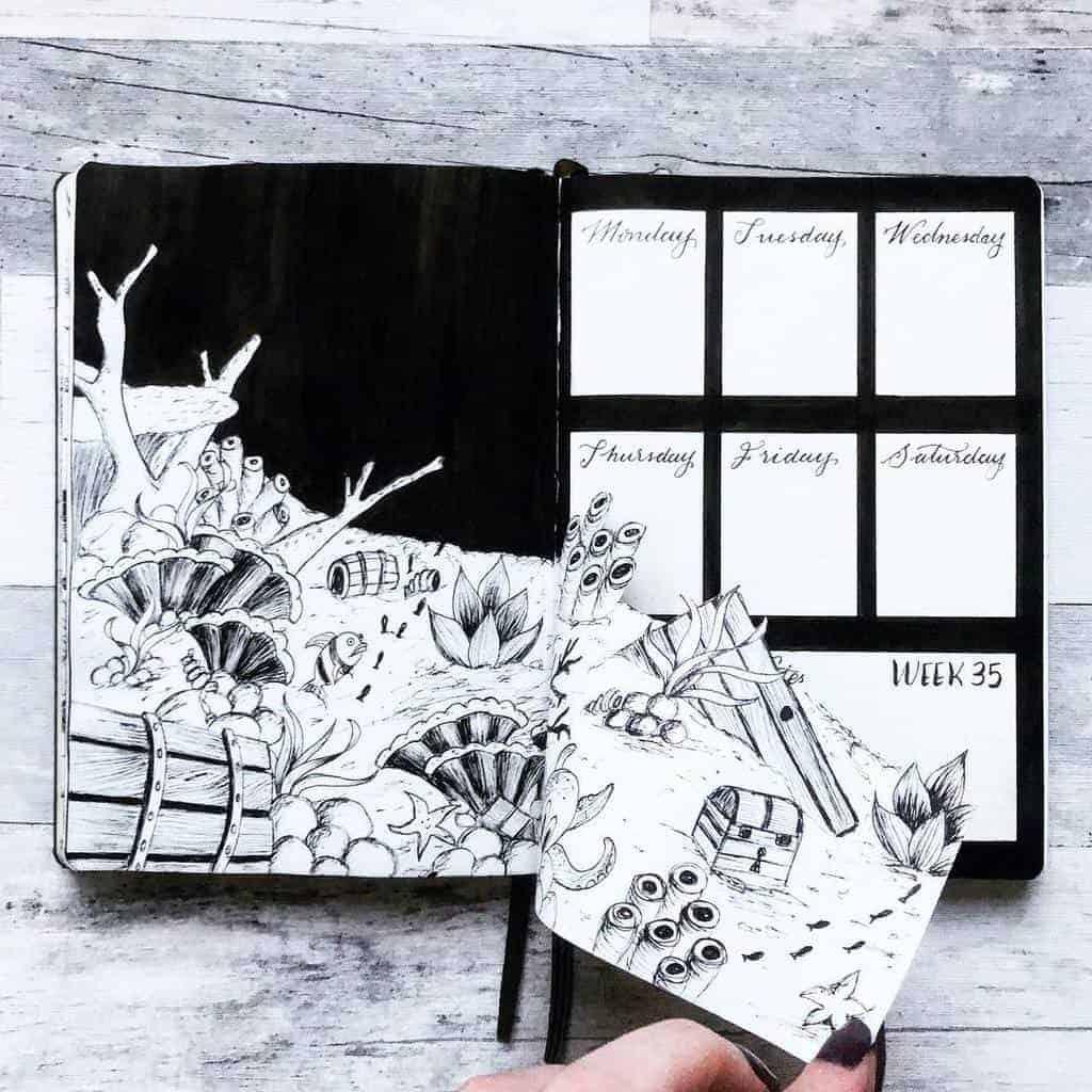 Bullet Journal Weekly Log by @hayleyremdeart   Masha Plans