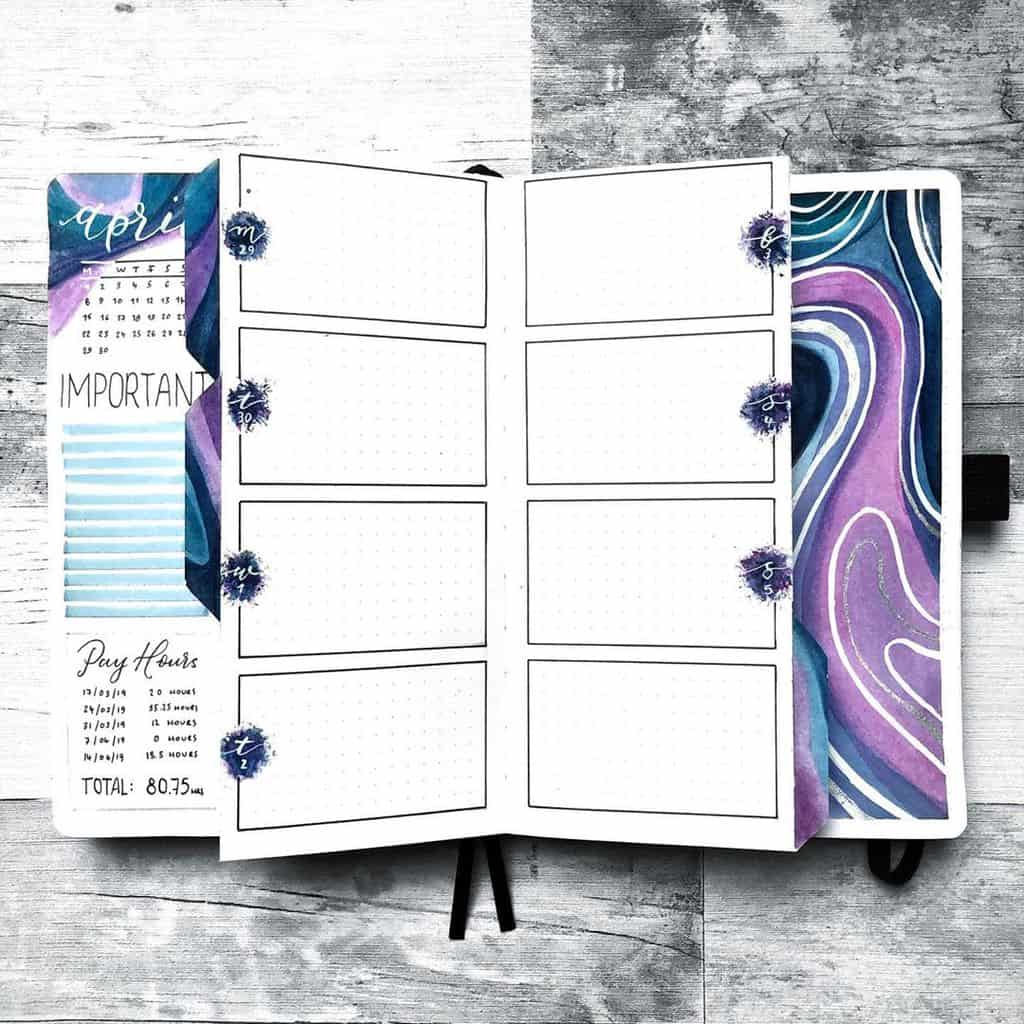 Bullet Journal Weekly Log by @hayleyremdeart | Masha Plans