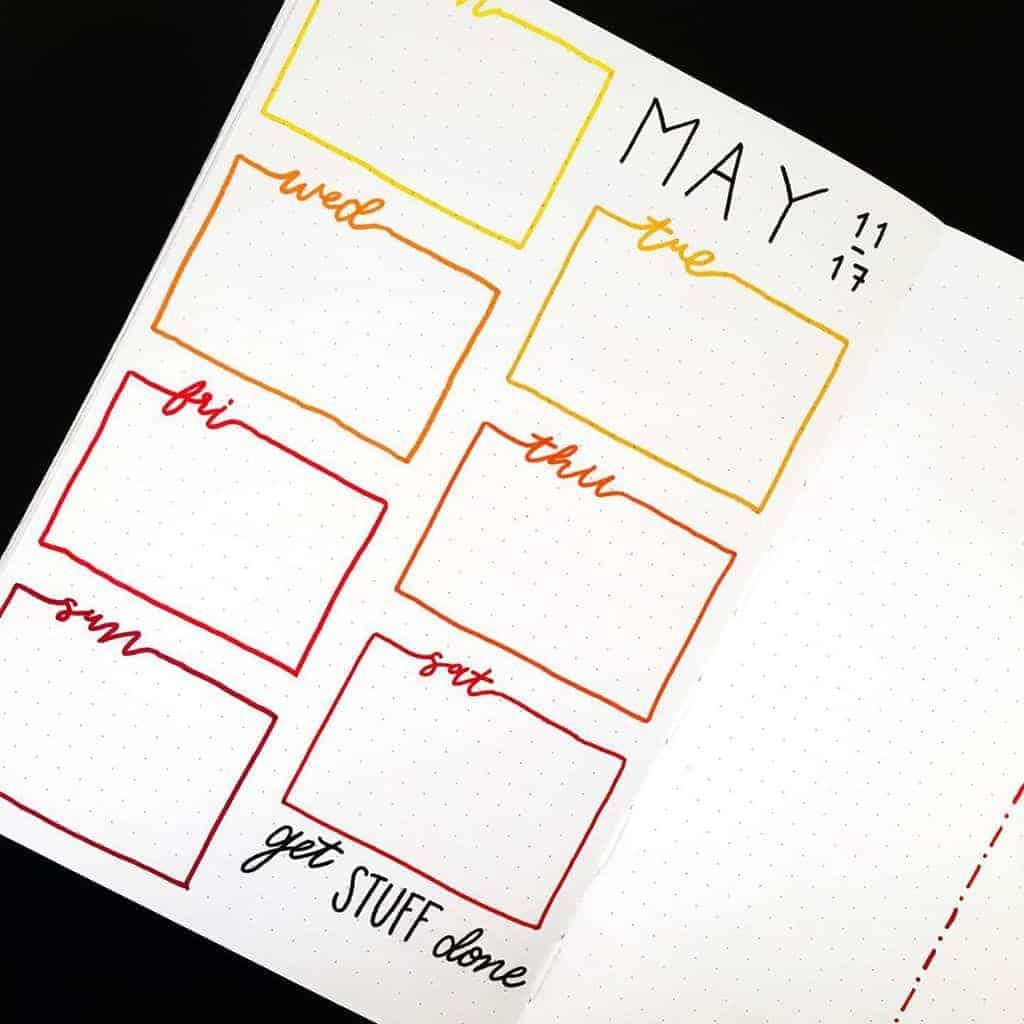 Bullet Journal Weekly Spread by @jashiicorrin   Masha Plans