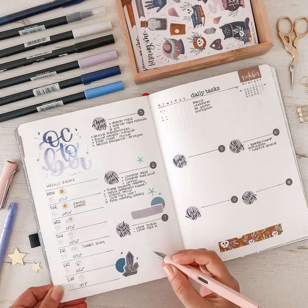 Bullet Journal Weekly Spread by @lettering_and_me   Masha Plans