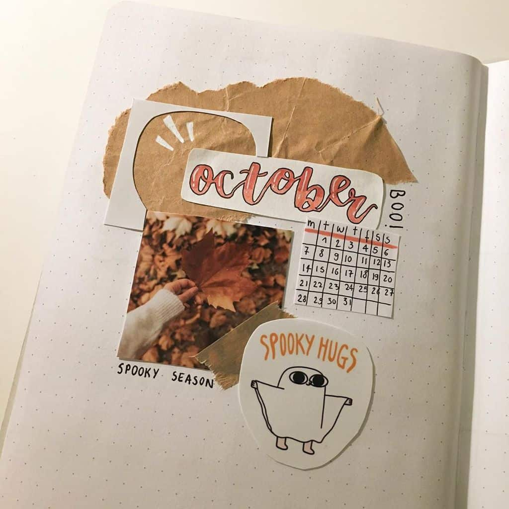 Kraft Paper Fall Bullet Journal Inspirations - cover page by @penpalbujo.anne | Masha Plans