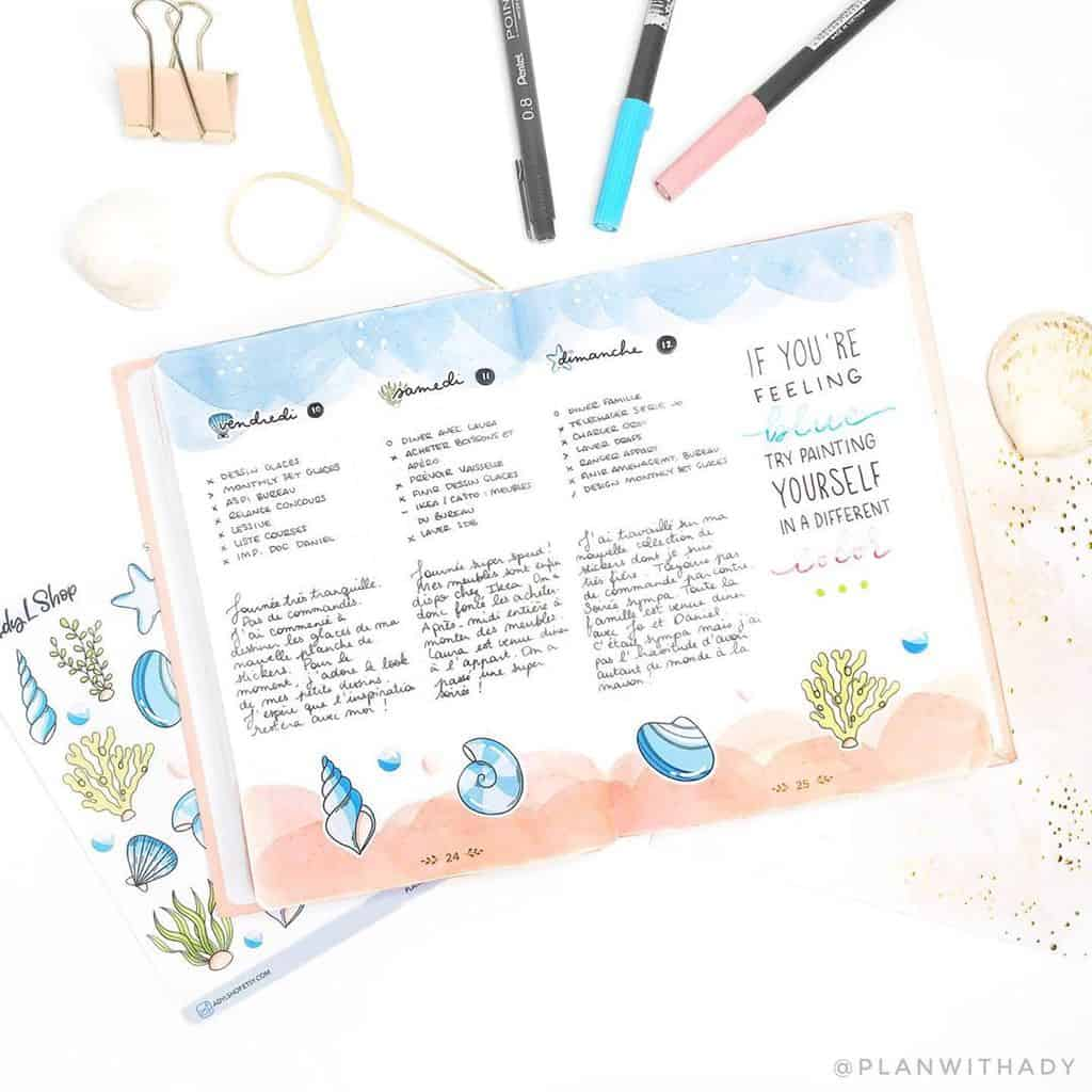 Bullet Journal Weekly Spread by @planwithady   Masha Plans