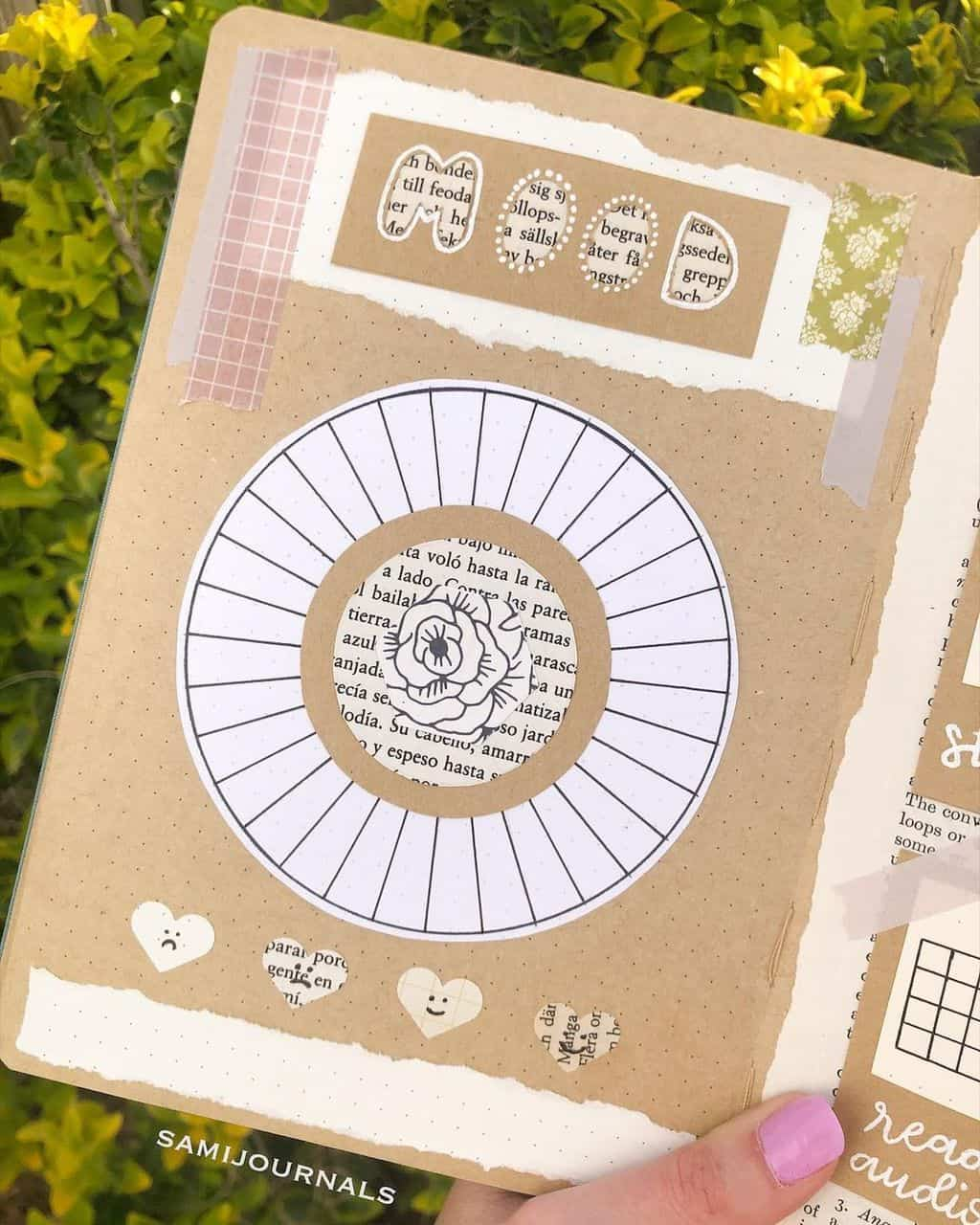 Kraft Paper Fall Bullet Journal Inspirations - mood tracker by @samijournals | Masha Plans