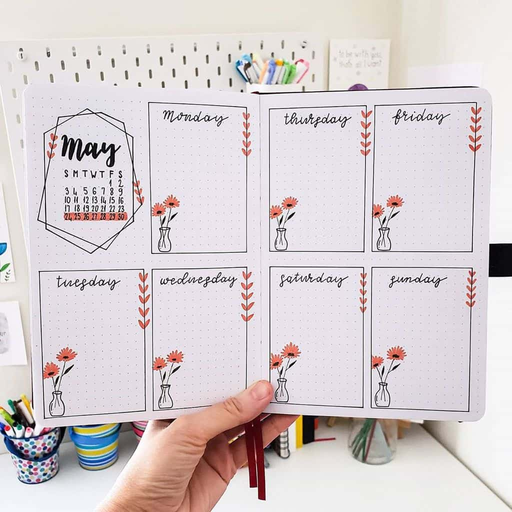 Bullet Journal Weekly Spread by @seed_successful_you | Masha Plans