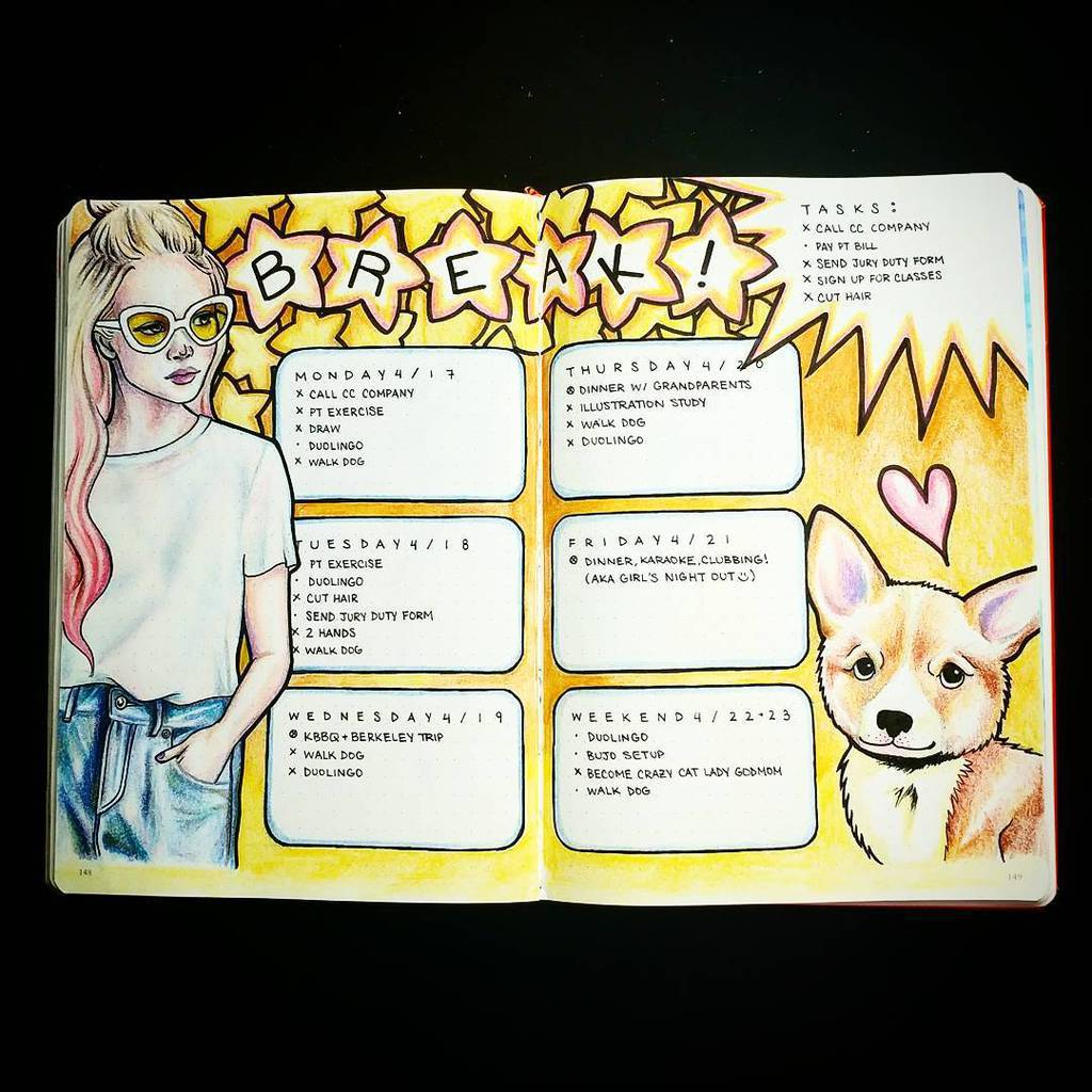 Bullet Journal Weekly Log by @stephsupgrade   Masha Plans