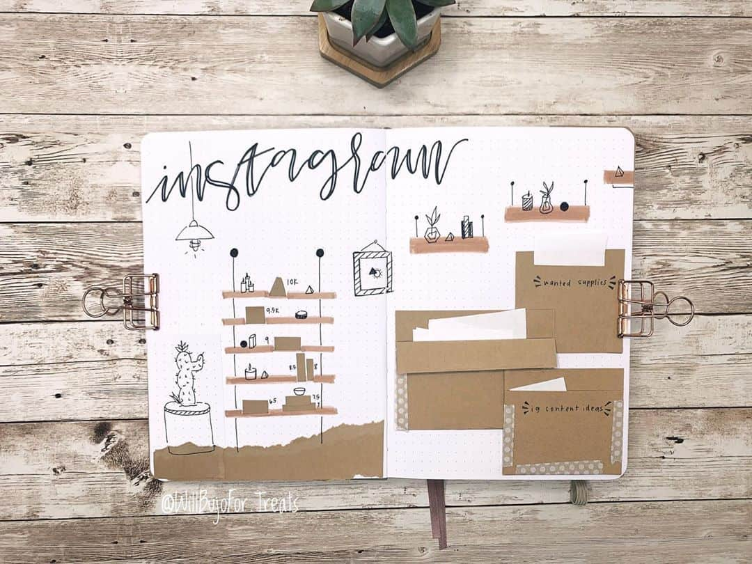 Kraft Paper Fall Bullet Journal Inspirations - habit tracker by @willbujofor.treats | Masha Plans