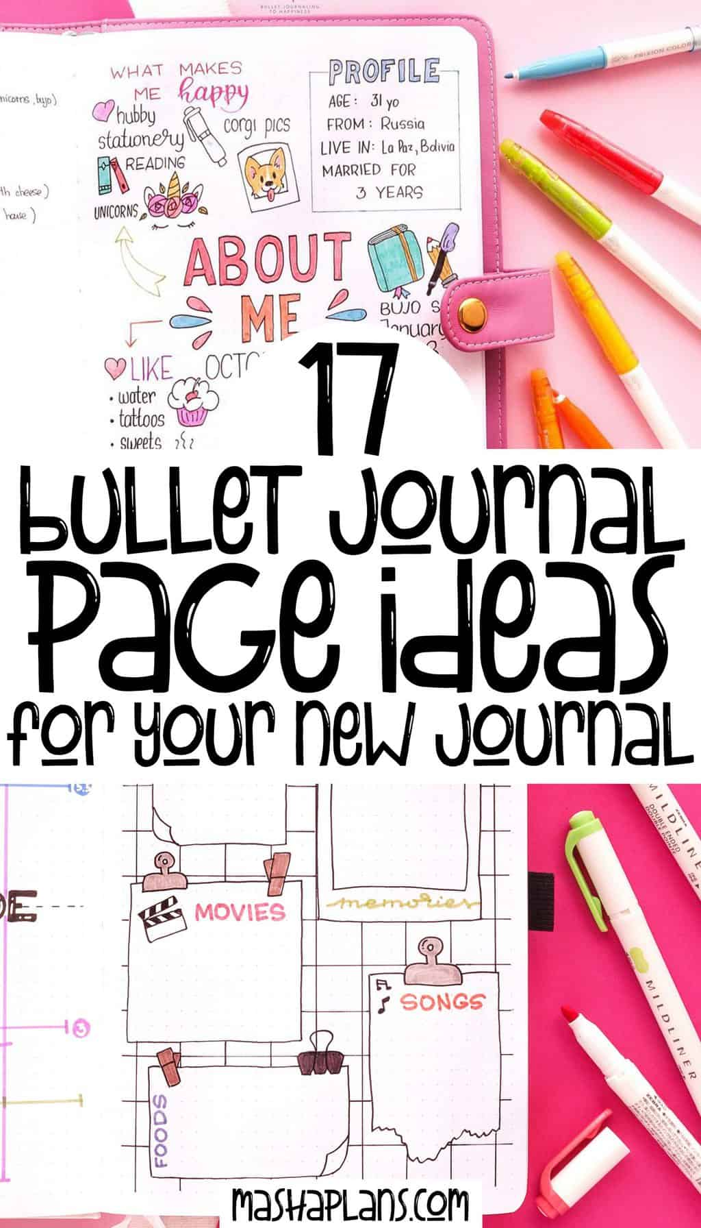 17 Bullet Journal Page Ideas For Your New Journal   Masha Plans