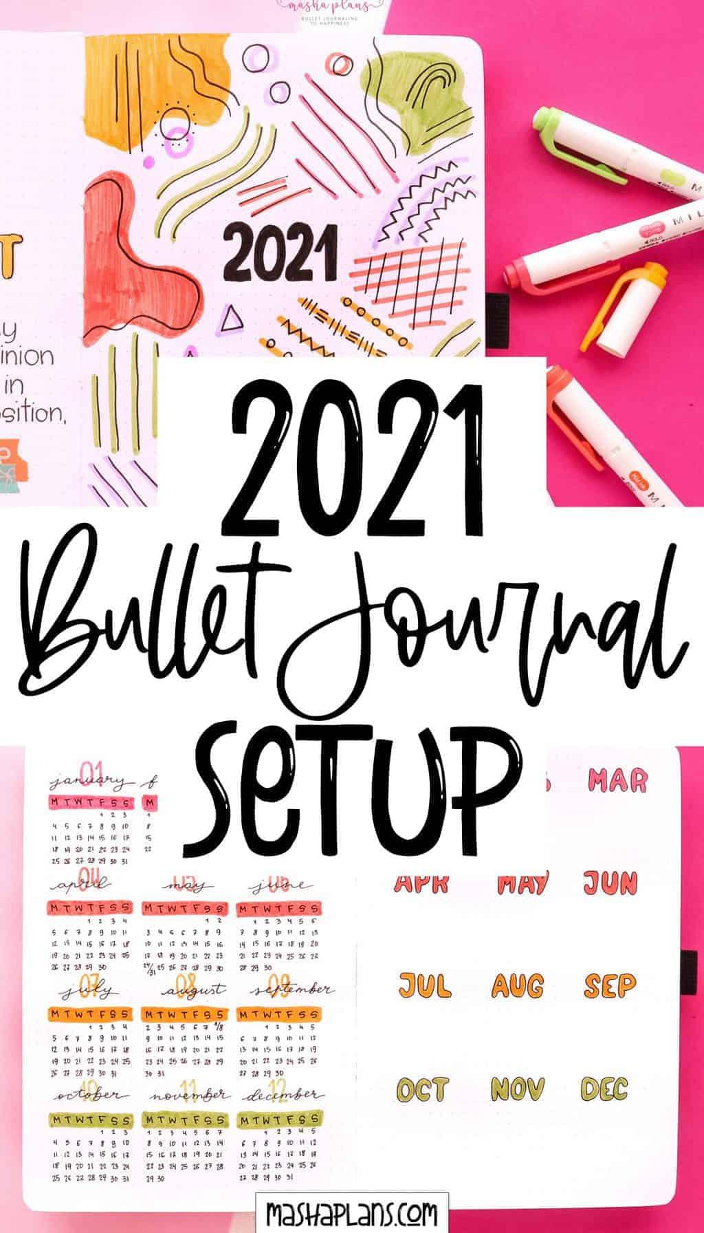 Plan With Me: My 2021 Bullet Journal Setup | Masha Plans