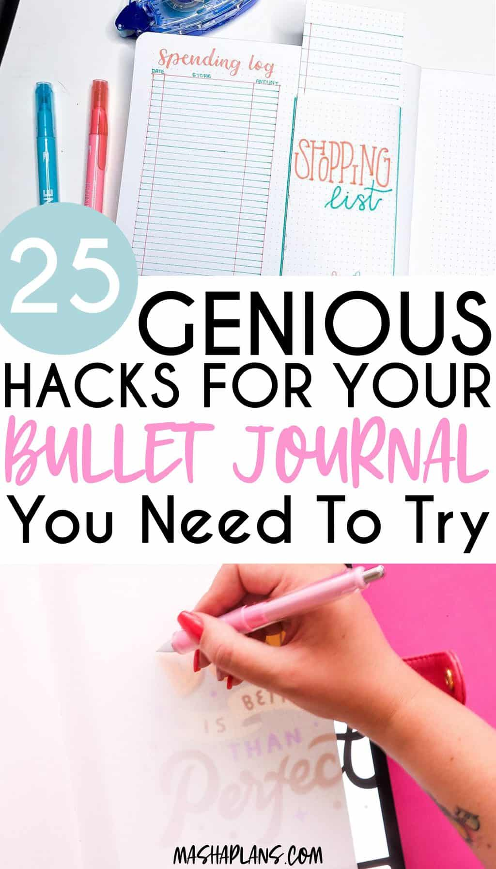 25 Bullet Journal Hacks To Try Right Away | Masha Plans