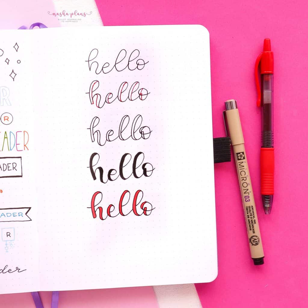 Faux calligraphy | Masha Plans