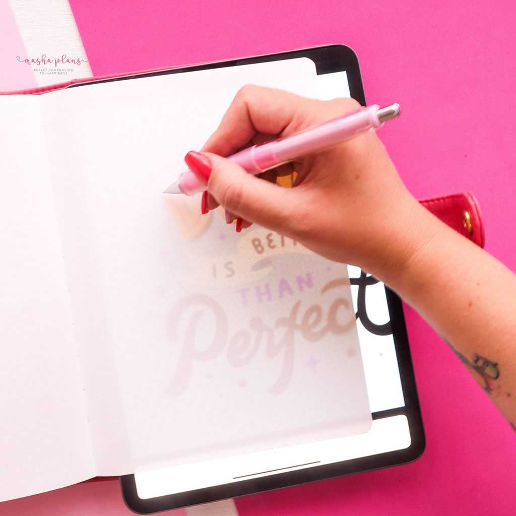 Tracing in your Bullet Journal | Masha Plans