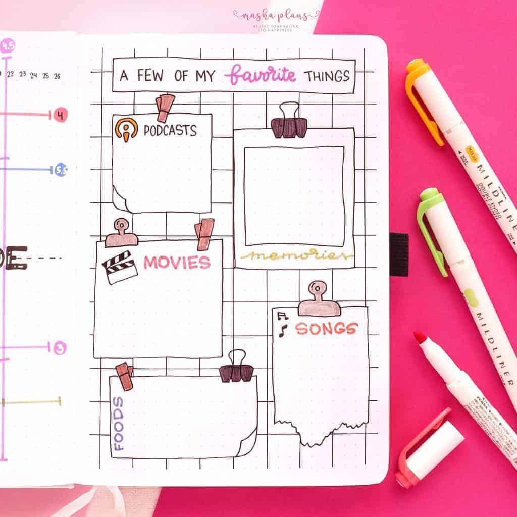 2021 Bullet Journal Setup, my favorite things | Masha Plans
