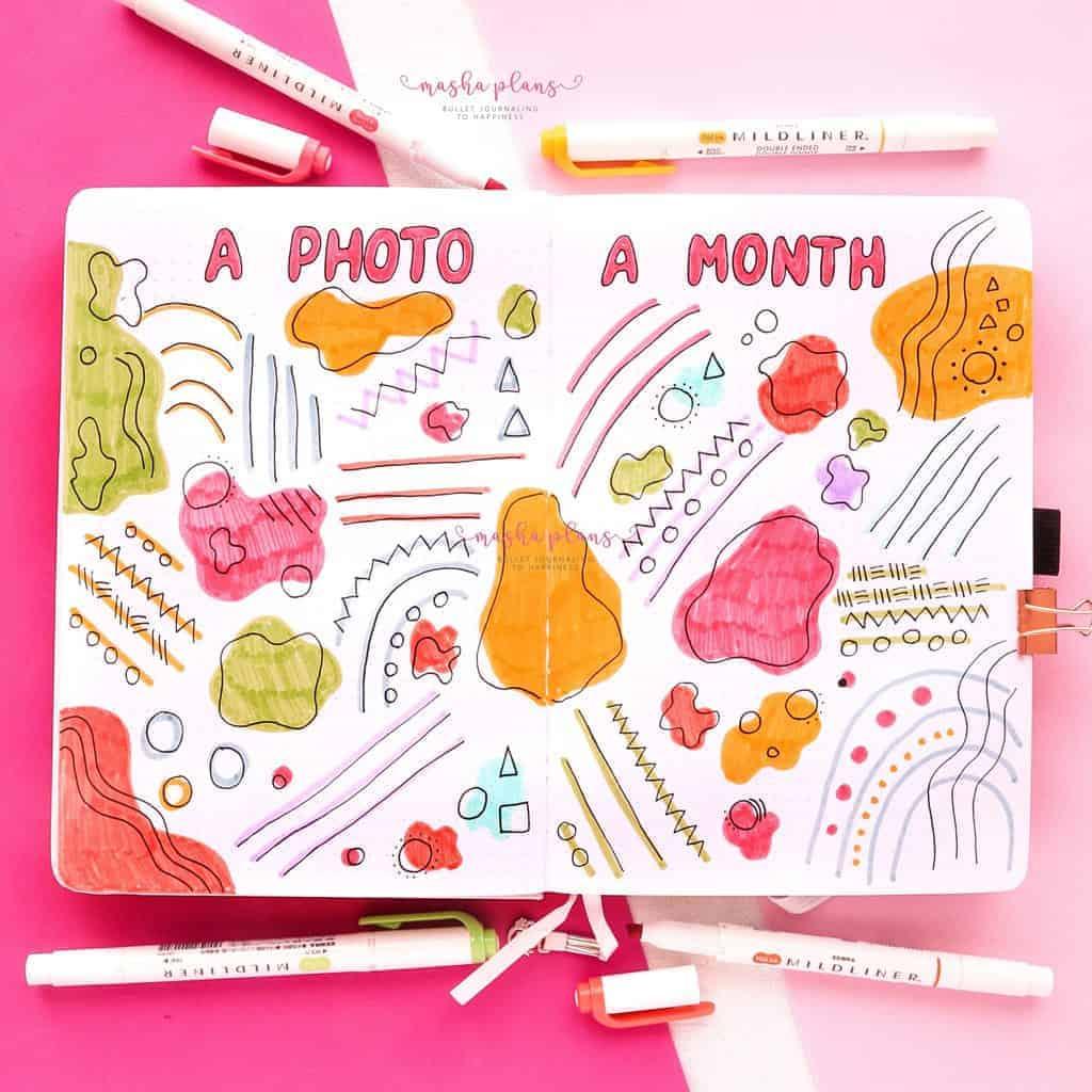 2021 Bullet Journal Setup, a photo a month | Masha Plans