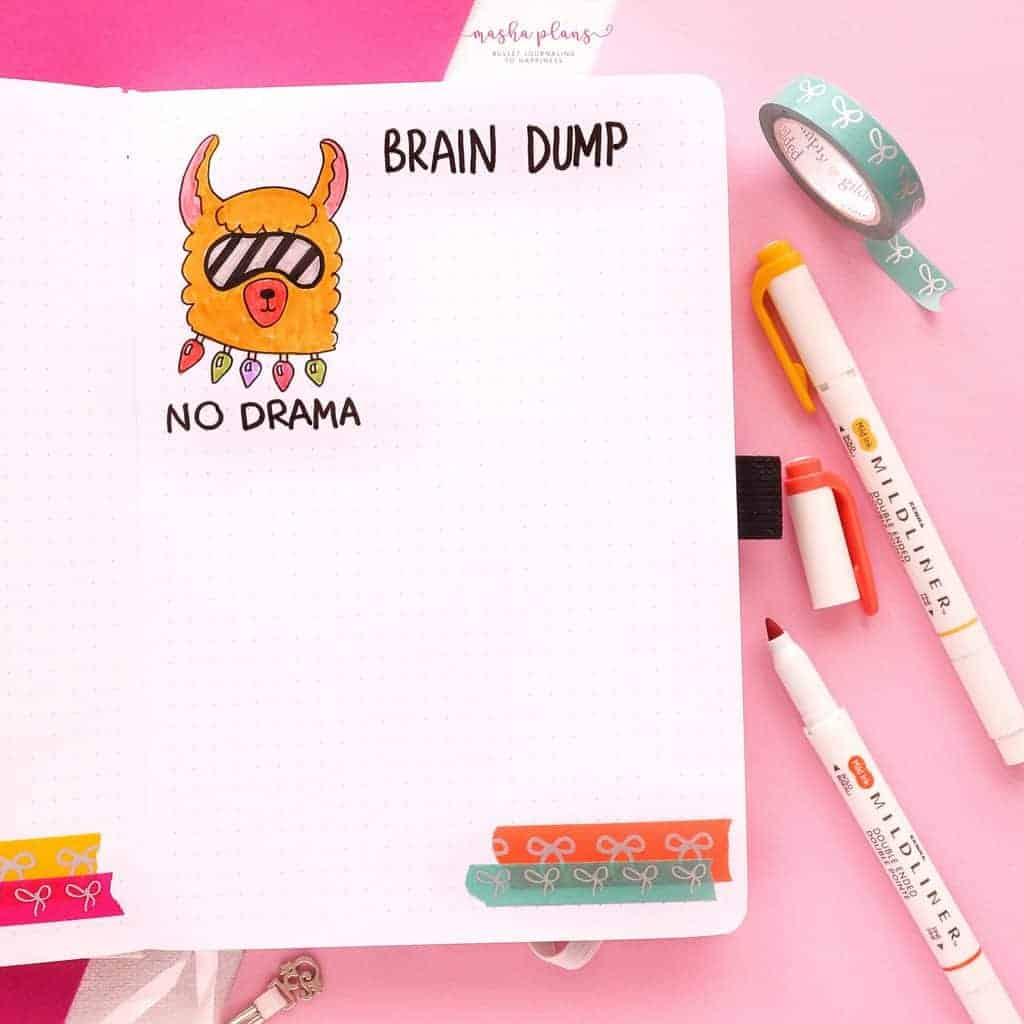 December Bullet Journal Setup, brain dump | Masha Plans
