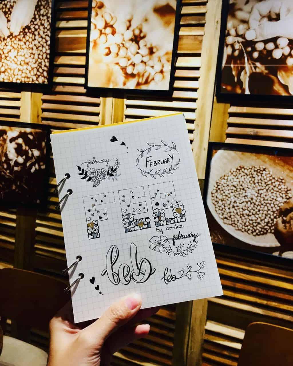 Bullet Journal Headers, ideas by @amika.bujo | Masha Plans