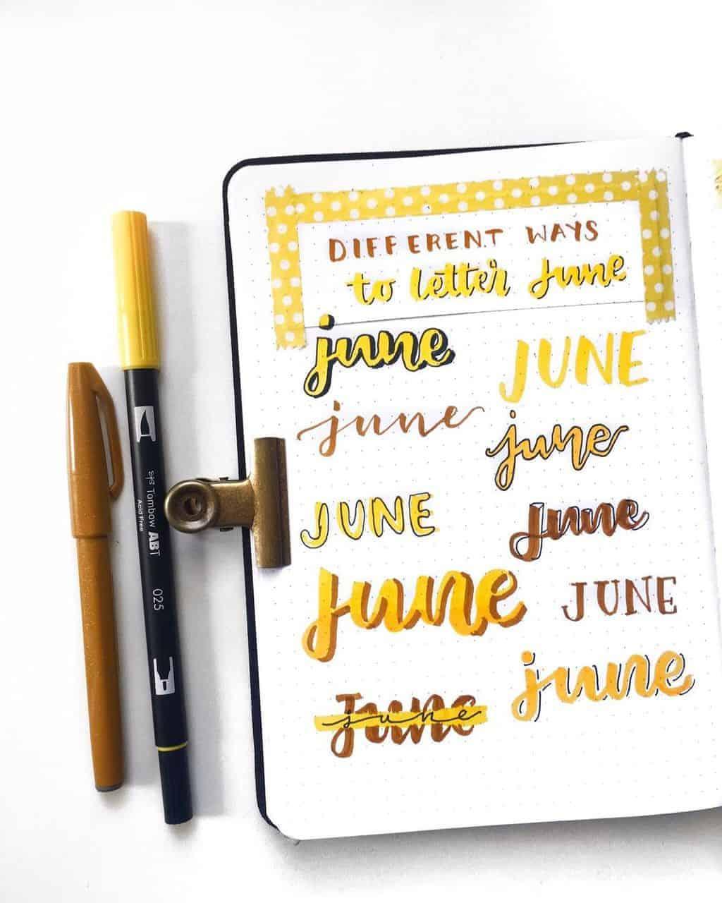 Bullet Journal Headers, ideas by @cozydaydreams | Masha Plans