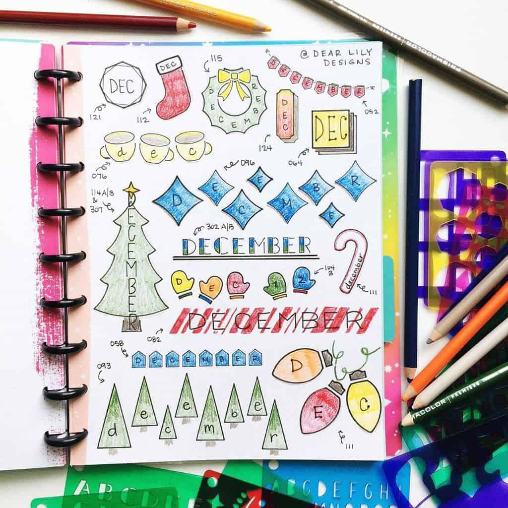 Bullet Journal Headers, ideas by @dearlilydesigns | Masha Plans