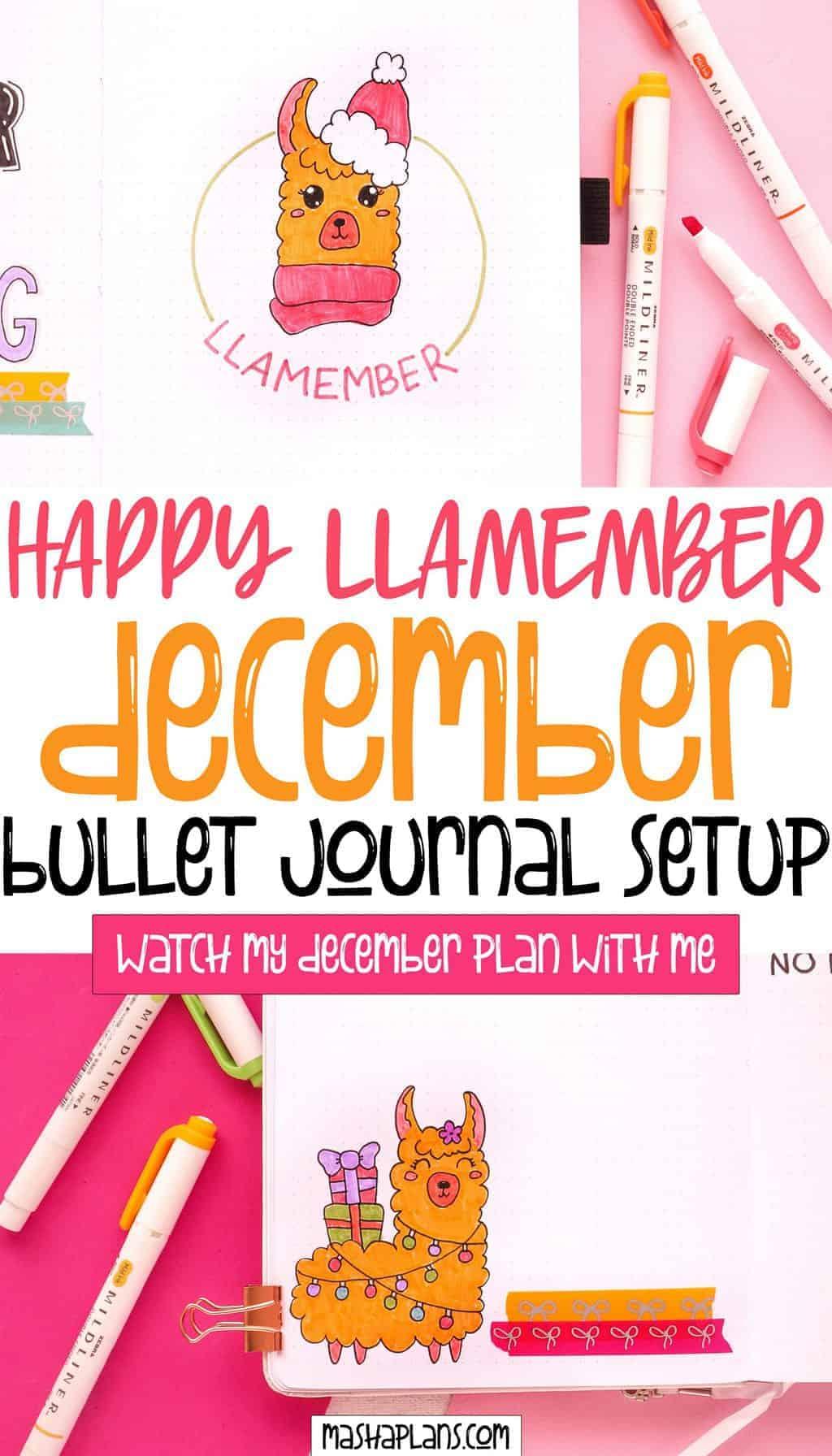 December 2020 Bullet Journal Setup | Masha Plans