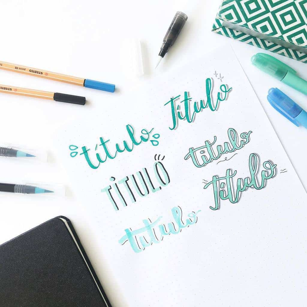 Bullet Journal Headers, ideas by @estudapotter | Masha Plans