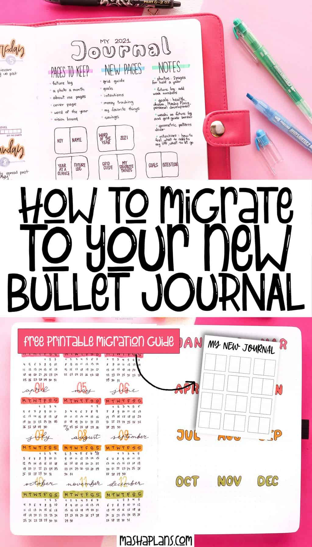 How To Migrate To Your New Bullet Journal | Masha Plans