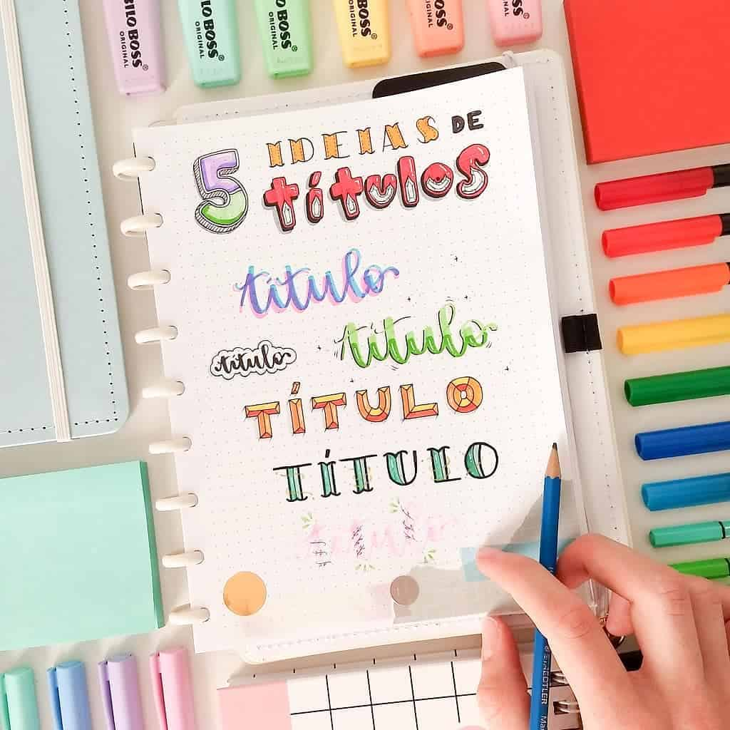 Bullet Journal Headers, ideas by @jotainspira | Masha Plans