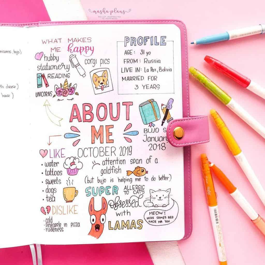 About me page | Masha Plans
