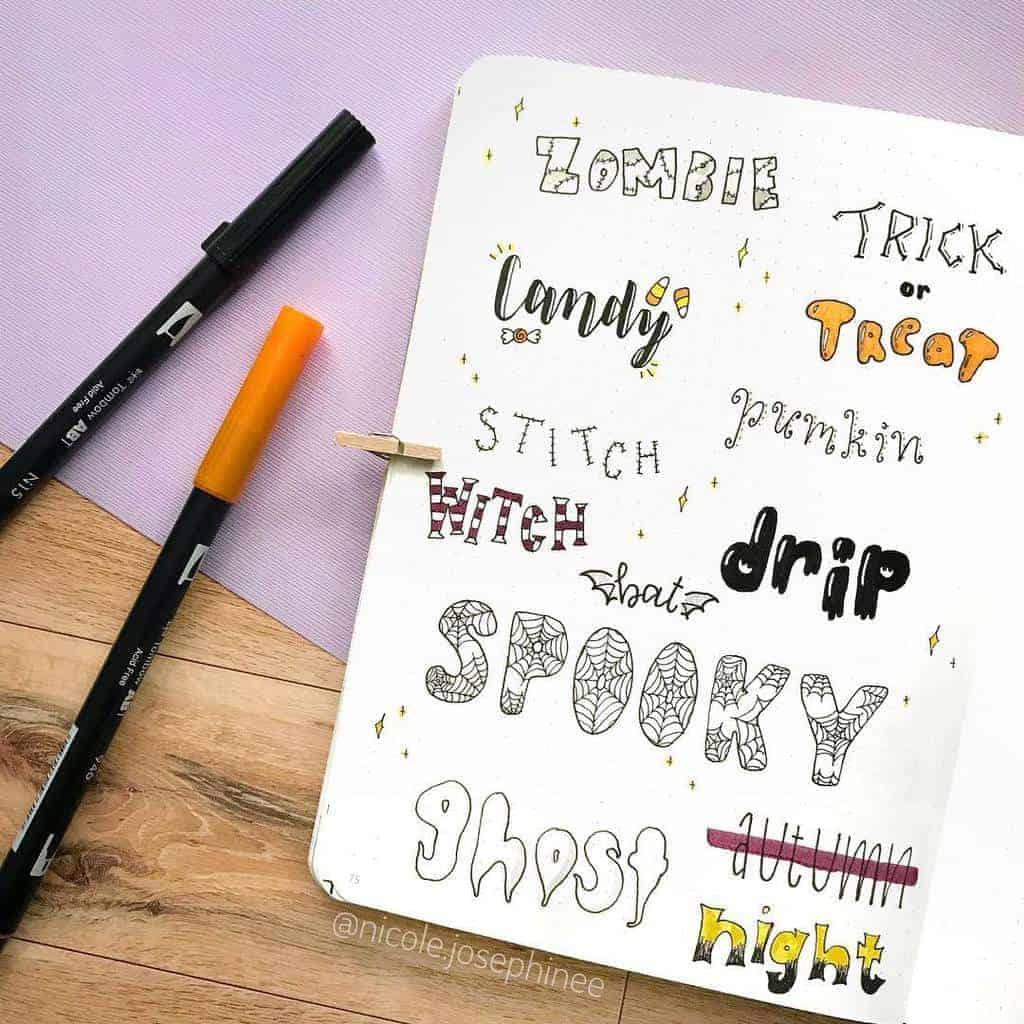 Bullet Journal Headers, ideas by @nicole.josephinee | Masha Plans