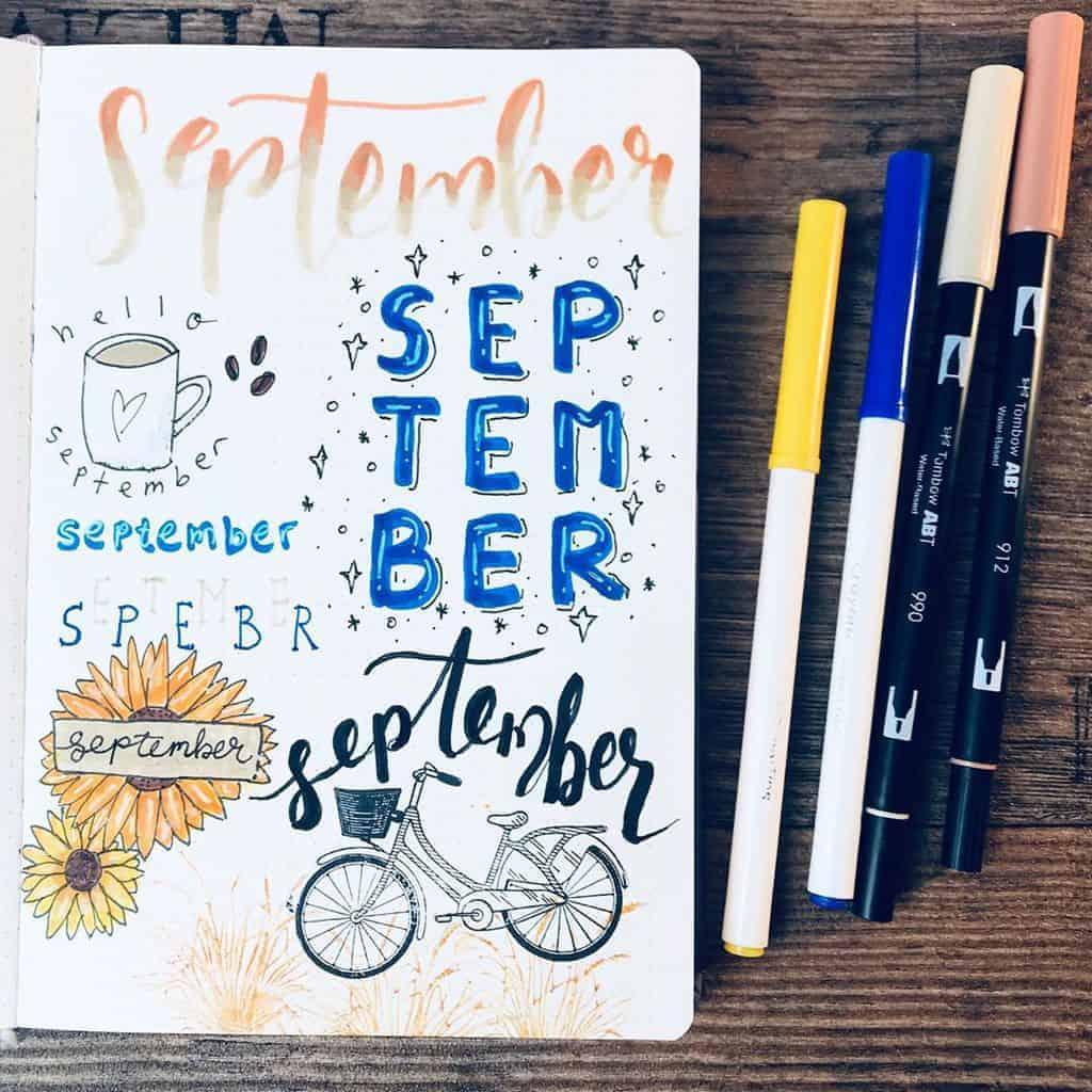 Bullet Journal Headers, ideas by @stueckwerk_bulletjournal | Masha Plans