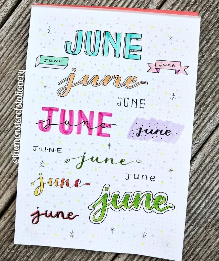Bullet Journal Headers, ideas by @themonsterofstationery | Masha Plans
