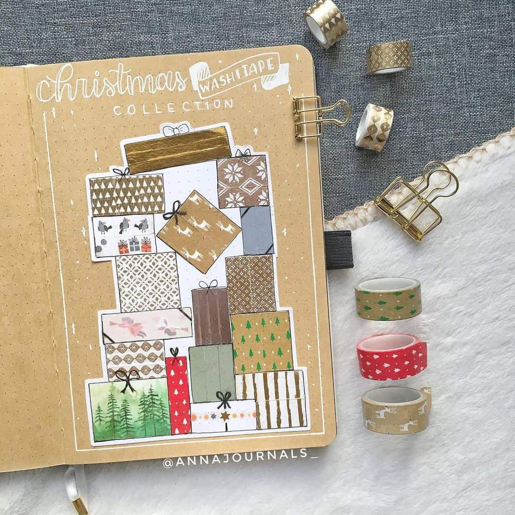 Winter Bullet Journal Inspirations, washi tape swatch by @annajournals_ | Masha Plans