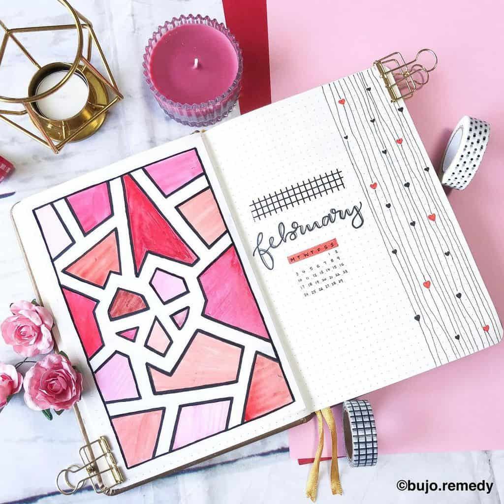 Winter Bullet Journal Theme Ideas, cover page by @bujo.remedy | Masha Plans
