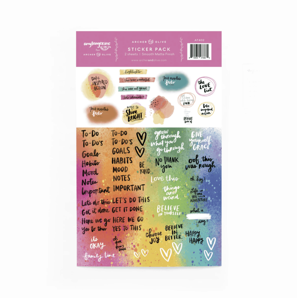 Archer & Olive / Amy Tangerine 2021 Planner, free stickers | Masha Plans