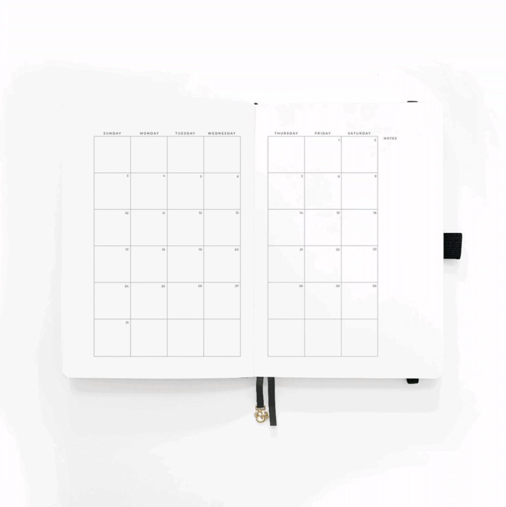 Archer & Olive / Amy Tangerine 2021 Planner, monthly log | Masha Plans