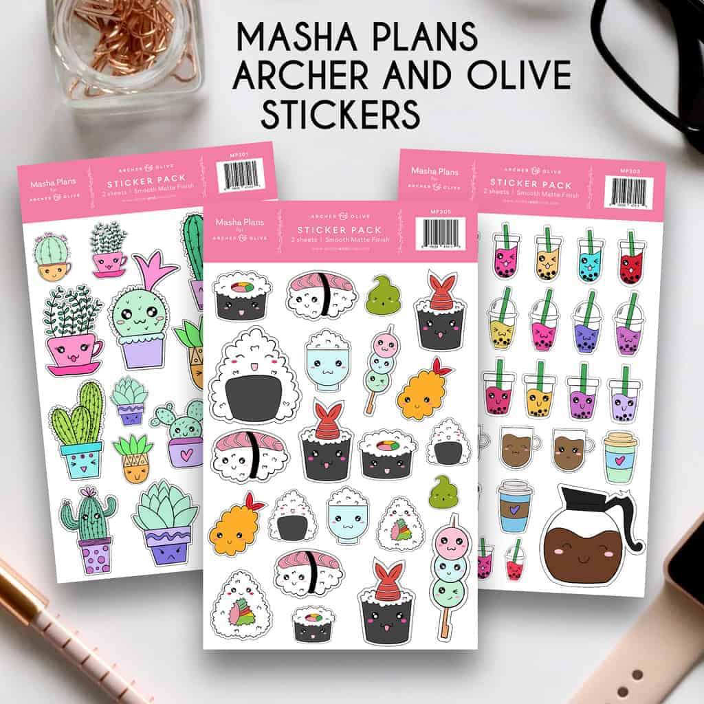 Masha Plans Stickers | Masha Plans