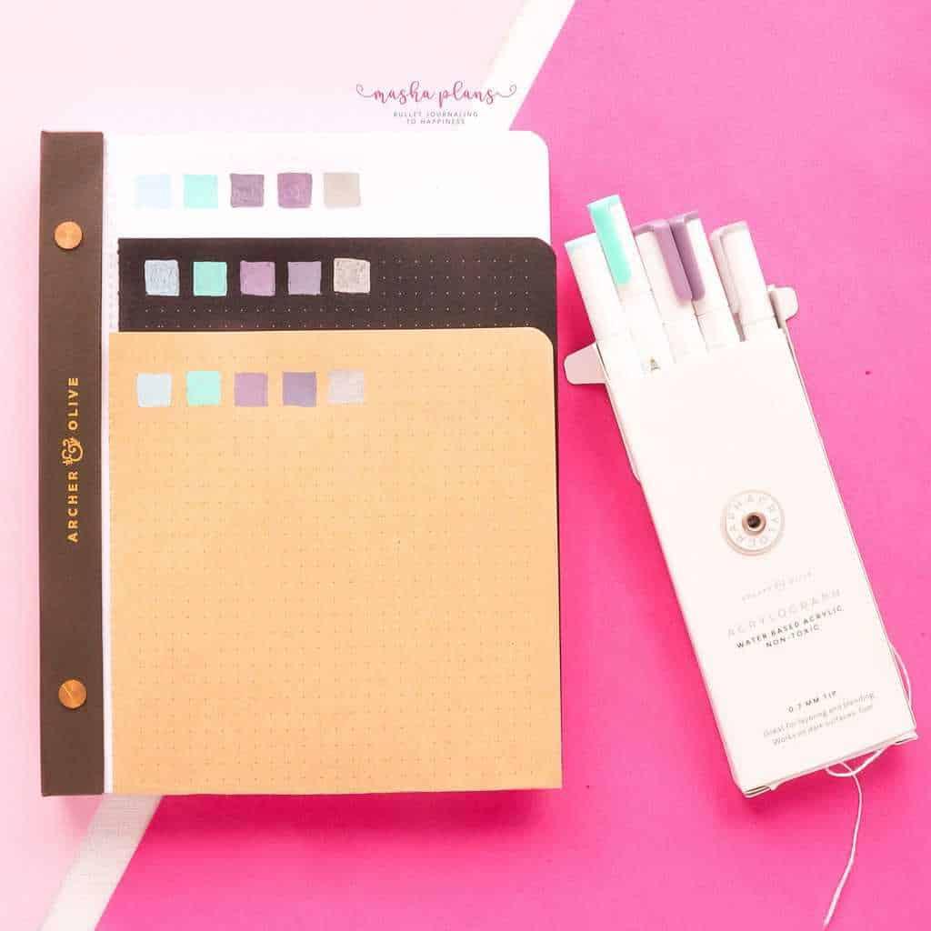Archer and Olive Subscription Box Review, acrylograph pens | Masha Plans