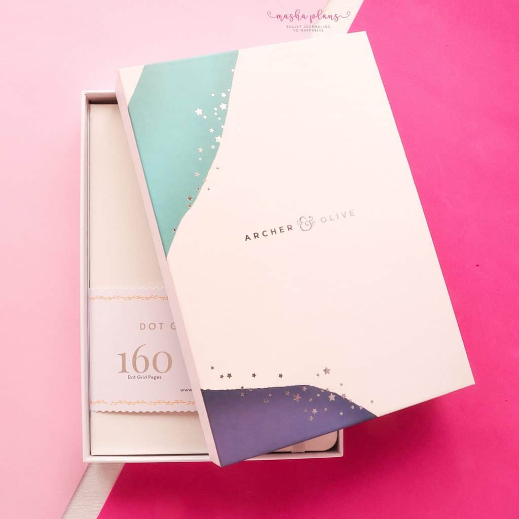 Archer and Olive Subscription Box Review, A5 journal | Masha Plans