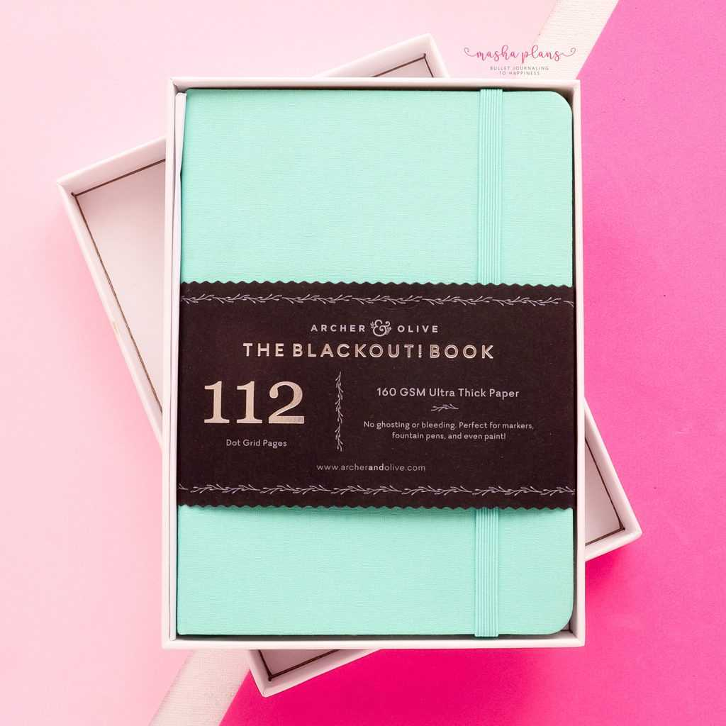 Archer and Olive Subscription Box Review, B6 journal | Masha Plans