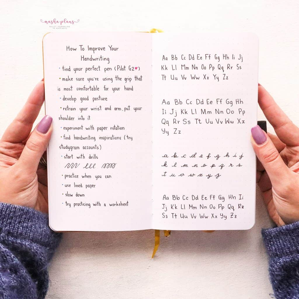 Simple Tricks To Improve Your Handwriting | Masha Plans