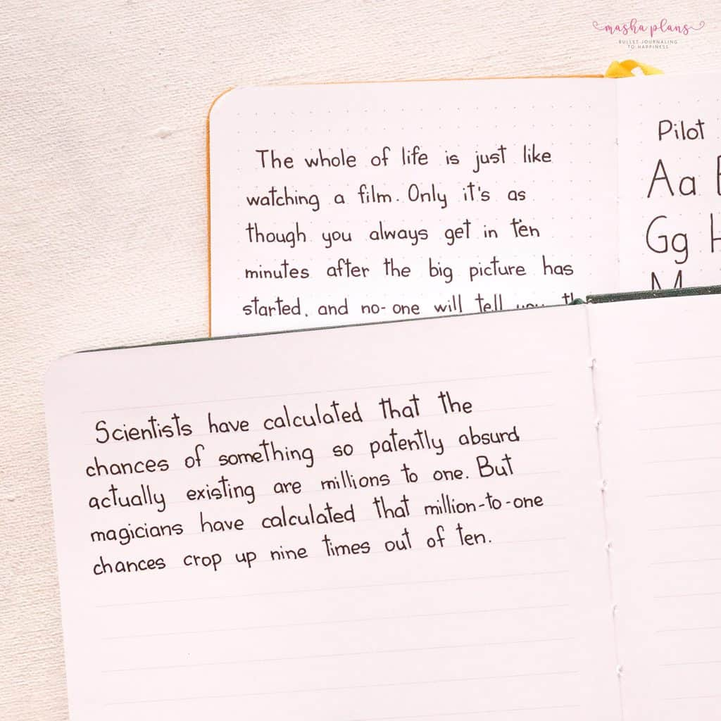 Simple Tricks To Improve Your Handwriting, choose the right grid | Masha Plans