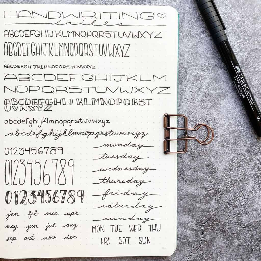 Aesthetic Handwriting by @plansthatblossom | Masha Plans