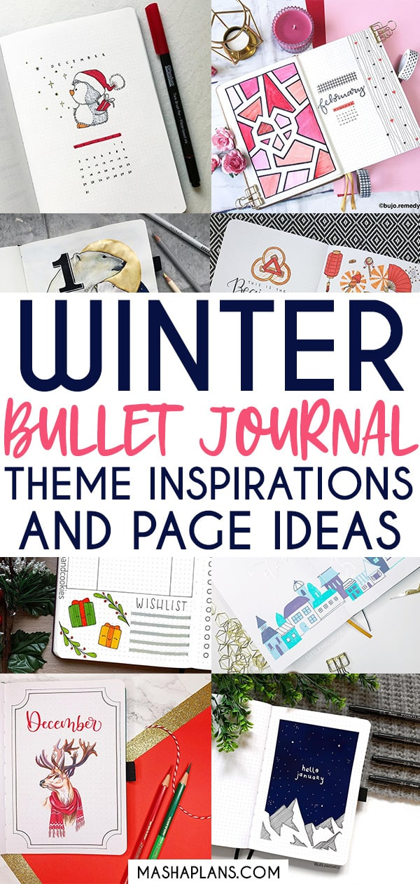 Amazing Winter Bullet Journal Theme And Page Ideas To Try This Season | Masha Plans